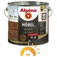 Alpina алкидный лак для мебели Mobel GL, 2,5 л