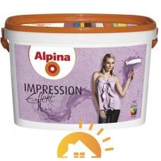 Alpina Краска для структурно-выраженных внутренних интерьеров Impression Effekt, 10 л