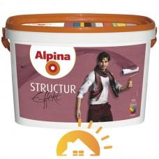 Alpina Белая структурная краска с кварцевым песком Structur Effekt, 10 л