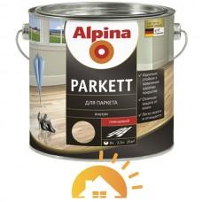 Alpina глянцевый алкидный паркетный лак Parkett GL, глянцевый, 5 л