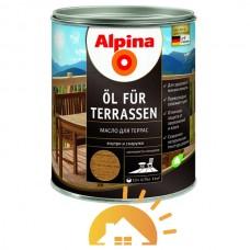 Alpina Эмульсия натуральной олифы для защиты дерева Oel Terrassen Dunkel, темная, 2,5 л