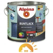 Alpina Алкидная эмаль премиум-класса Buntlack GL, галечно-серый (RAL7032), 2,5 л