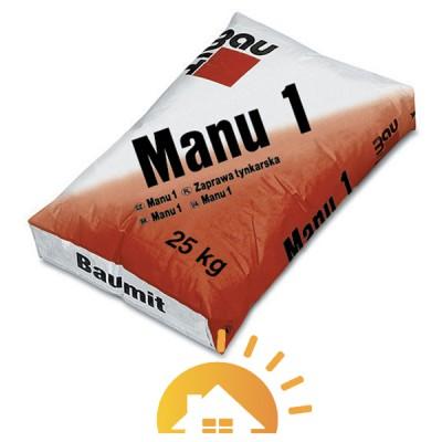 Baumit цементно-известковая штукатурная Manu-1, 25 кг