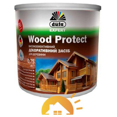 Dufa Высокоэффективное декоративное средство для дерева Wood Protect, 2,5 л