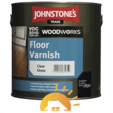 Johnstones Полиуретановый лак для пол Floor Varnish Gloss, 2,5 л