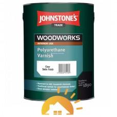 Johnstones Лак на основе алкидной смолы и полиуретана Polyurethane Varnish Clear Gloss, 2,5 л