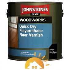 Johnstones Быстросохнущий акрило-полиуретановый лак для пола Quick Dry Polyurethane Floor varnish Gloss, 2,5 л