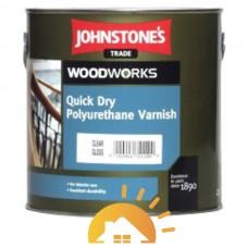 Johnstones Полиуретановый лак на водной основе Quick Dry Polyurethane Varnish Clear Gloss, 2,5 л