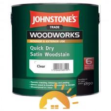 Johnstones Водорастворимое, тонируемое, быстросохнущее покрытие Quick Dry Satin Woodstain, 2,5 л