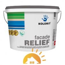 Kolorit Структурная водно-дисперсионная краска на акрилатной основе Facade Relief, 4,5 л