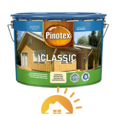 Pinotex Декоративная краска для защиты древесины Classic, дуб, 10 л