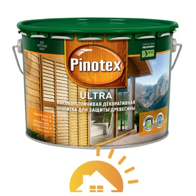 Pinotex Пропитка для древесины Ultra, калужница, 10 л