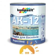 Kompozit Краска для бассейнов АК-12, Голубая, 10 кг